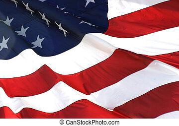 orizzontale, bandiera, americano, vista