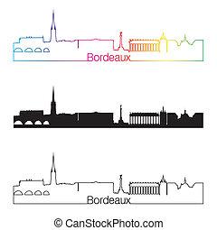 orizzonte, arcobaleno, stile, bordeaux, lineare