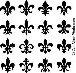 orleans, simbolo, lis, fleur, de
