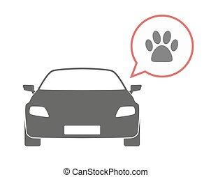 orma, automobile, isolato, animale