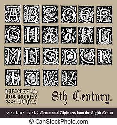 ornamentale, alfabeti