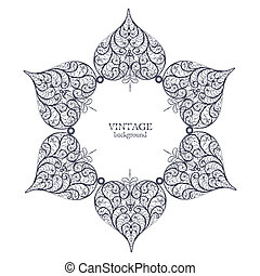 ornamentale, laccio, ornamento, cerchio, rotondo
