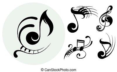 ornamentale, note musica