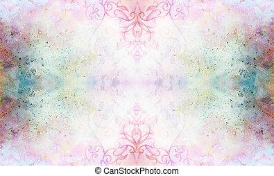 ornamentale, spots., astratto, multicolor, motivi dello sfondo