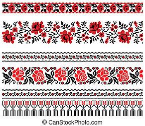 ornamento, ricamo, ucraino