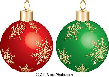 ornamento, verde rosso