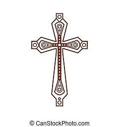 ornare, cristiano, croce, icona