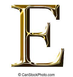 oro, alfabeto, e, simbolo