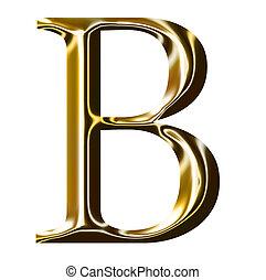 oro, alfabeto, simbolo, b