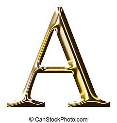 oro, alfabeto, simbolo