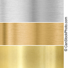 oro, argento, bronzo, struttura, fondo, collezione, :, metallo
