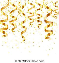 oro, arricciamento, flusso