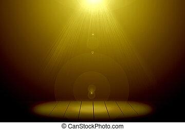 oro, bagliore, astratto, floor., legno, illuminazione, immagine