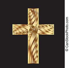 oro, croce, bello, disegno