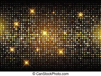 oro, discoteca, 2406, luci, fondo, brillare