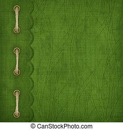oro, disegno, coperchio, st., braid., clip, patrick's, giorno, album
