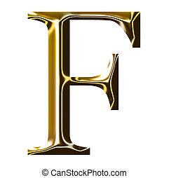 oro, f, alfabeto, simbolo