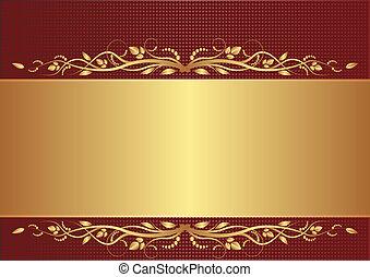 oro, fondo, borgogna