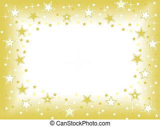 oro, fondo, stella