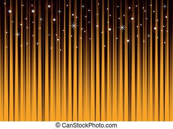 oro, fondo, stelle, strisce