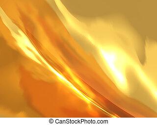 oro, fuoco, astratto, effetto, ardendo, fondo