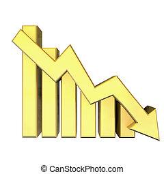 oro, grafico, statistica