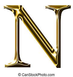 oro, n, simbolo, alfabeto