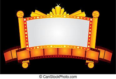 oro, neon, cinema