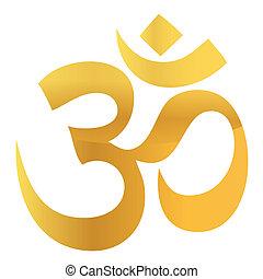 oro, om, aum, simbolo