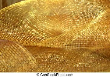 oro, reticolato, tessuto