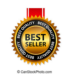 oro, segno, venditore, vettore, sagoma, etichetta, meglio