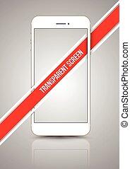 oro, smartphone, trasparente, manichino