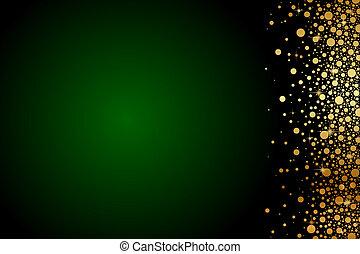 oro, verde, lusso, fondo