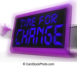 orologio, digitale, strategia, tempo, andare, nuovo, mostra, cambiamento, revisione