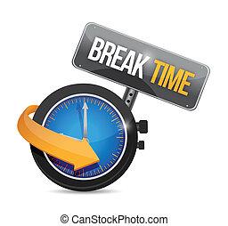 orologio, illustrazione, segno, rottura, disegno, tempo