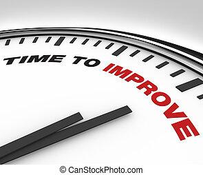 orologio, -, miglioramento, scadenza, piano, tempo, migliorare