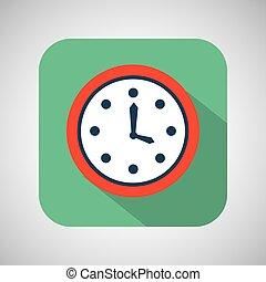 orologio, sfondo verde, tempo, uggia, cartone animato