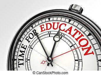 orologio tempo, concetto, educazione
