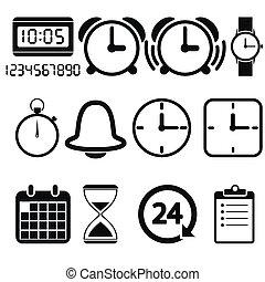 orologio tempo, icone