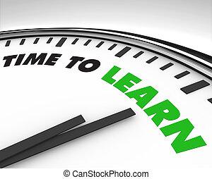 orologio, -, tempo, imparare