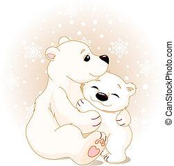 orso bambino, madre