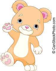 orso teddy, camminare