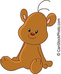 orso teddy, seduta