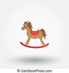 oscillante, horse., icon.