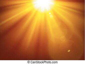 oscurità, oro, illustrazione, luci, vettore, fondo, lucente