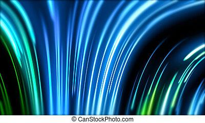 ottico, laser, blu, notte, astratto, virtuale, mostra, viola, neon, equalizzatore, linee, illusione, realtà, ardendo, club, fluorescente, fondo, luci