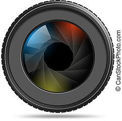 otturatore, lente macchina fotografica, foto