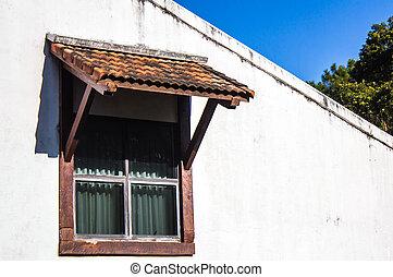 otturatori, vecchio, legno, finestra