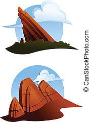 outcroppings, roccia rossa