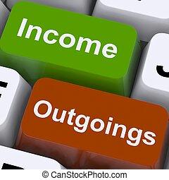 outgoings, mostra, chiavi, pianificazione finanziaria, reddito, contabilità